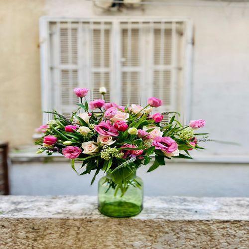זר פרחים בסטייל